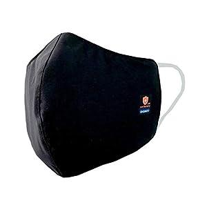 洗って繰り返し使える抗菌布 ドクターマスク 3枚セット (大人用)  洗えるマスク 布製マスク 黒 抗菌マスク UVカット