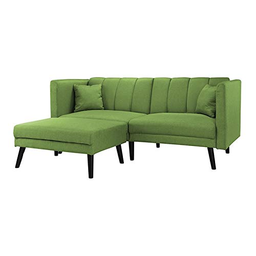 HTI-Line Ecksofa Matisse Ecksofa Polsterecke Polstergarnitur Couch Couchgarnitur Ottomane Sitzgelegenheit Grün