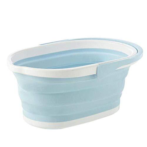 Cubo plegable multifuncional y ahorra espacio con cubo desplegable para baño y cocina, lavabo portátil y fregadero