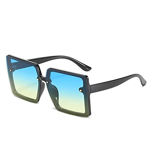 ShZyywrl Gafas De Sol De Moda Unisex Gafas De Sol Vintage para Hombre Y Mujer, Gafas De Sol De Conducción En La Playa De Gran Tamaño, Gafas Cuadradas De Moda P