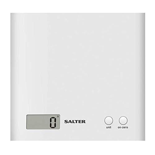 Salter 1066WHDR Bilancia da cucina elettroniche, capacità 3kg, 18 x 17.8 x 2.5 cm, Bianco