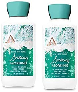 Bath and Body Works 2 Pack Snowy Morning Super Smooth Body Lotion 8 Oz