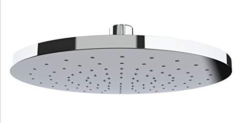 WENKO Regenduschkopf Automatic Cleaning - Anti-Kalk Universal-Kopfbrause mit automatischem Reinigungssystem, Kunststoff (ABS), 22.5 x 22.5 cm, Silber glänzend