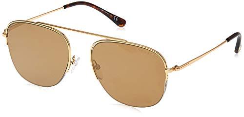 Tom Ford Sonnenbrillen ABOTT FT 0667 GOLD/BROWN 56/18/145 Herren