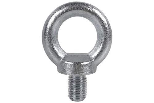 DOJA Industrial | Stahl Schraube Ring | Augenschraube M6 | Pack 5 | Außengewinde Schrauben, Ringschraube stahl