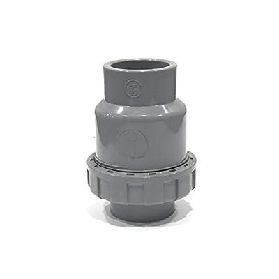 SHMONO 3/4'' PVC Check Valve, Ball-Type Control Devices, Single Union Ball Check Valve, Socket [Available 1'',1.25'',1.5'',2''] by SHMONO