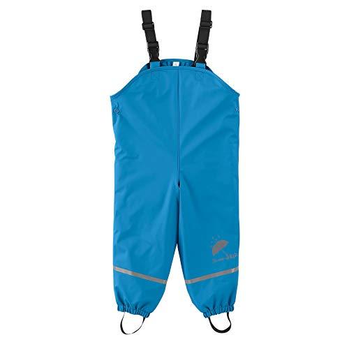 Sterntaler Baby Boys Pantaloni Impermeabili Foderati Con Bretelle Pantalon De Pluie, Bleu (Azurblau, 80 Regenbroek, Blauw (Azur Blauw 396), 30 (Maat