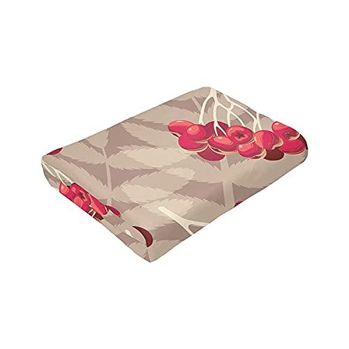 Rowan Berries and Leaves Throw Fleece Blanket Flannel Ultra Soft Lightweight Microfiber...