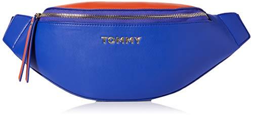 Tommy Hilfiger Damen Iconic Tommy Bumbag Umhängetasche, Blau (Surf The Web-Koi), 1x1x1 cm