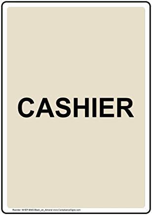 Wendana Vertikales Kassenschild, lustiges Wanring Schild, Torschild, Hence Yard Schild, 20,3 x 30,5 cm mit englischem Text, Schwarz auf Mandel