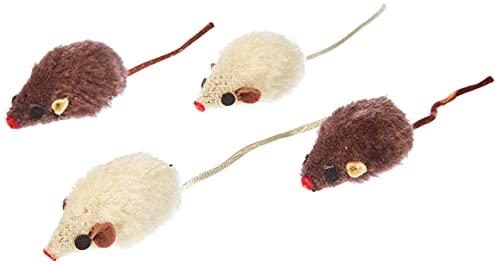 Nobby Plüschmaus mit Rassel 4 St, 5 cm