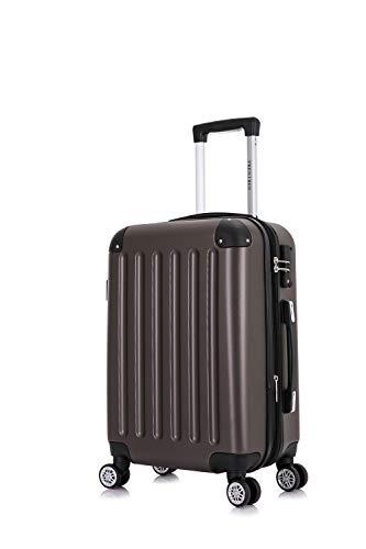 Frentree Handgepäck Koffer | Reisekoffer | Hartschalenkoffer mit 4 Rollen und TSA-Schloss, erweiterbar, Koffer Standard Farbe:koffee, Koffer 226 Grösse:M(Handgepäck)