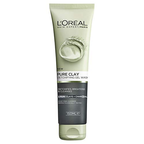 L'Oréal Paris Pure Clay Charcoal Detoxifying Gel Wash 150ml