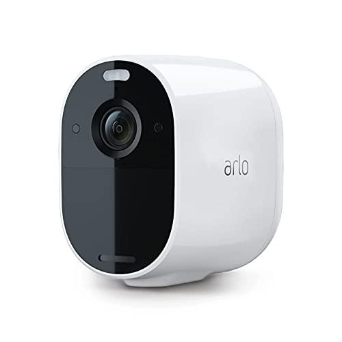 Arlo Essential Spotlight WLAN Überwachungskamera aussen, kabellos, 1080p, Farbnachtsicht, Bewegungsmelder, 2-Wege Audio, kein Hub benötigt, mit 90-tägigem Arlo Secure Plan Testzeitraum, VMC2030