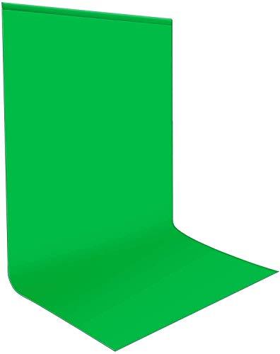 Green Screen Fotohintergrund 1,8x2,8 m, Bonvvie Faltenresistenter Fotografie Hintergrund Grün Chromakey Musselin Hintergrund für Photo Video Studio, Fernsehen, Zoom, YouTube, Online-Meetings
