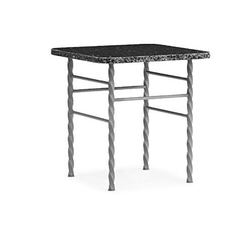 Normann Copenhagen Terra Table, Acier, Gris, 42x40xD40cm