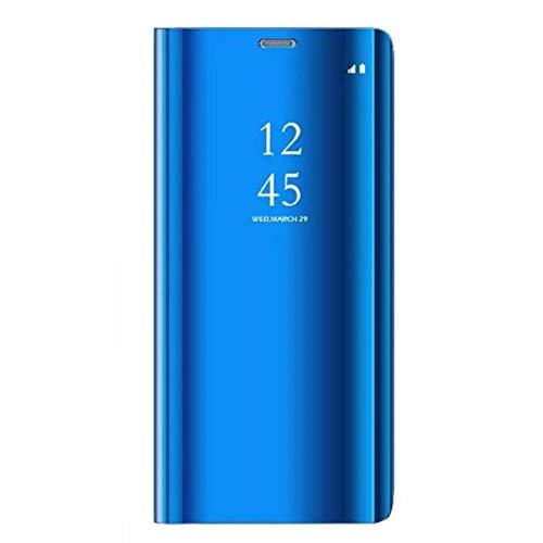 Caler compatible con funda Huawei P9 Lite 2017 funda espejo cartera Case Flip silicona transparente Wallet de piel Bumper Folio Protector cobertura lujo Mirror Shell
