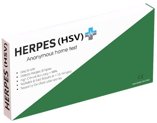 Herpes Test | Für Männer und Frauen | Mit 99% Genauigkeit zertifiziert | Einfach zu bedienen |
