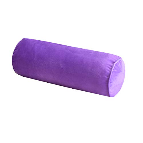 16x6 Inch Round Neck Pillow for Sleeping, Neck Pain Relief, Side Back Stomach Sleeper, Car or Office Chair Sofa,support Pillow for Posture & Comfortable Spine Position with Organic Cotton (Lavender)