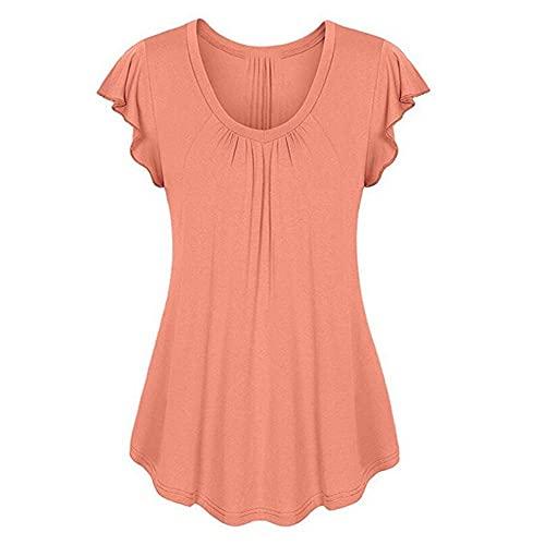 N\P Mujer Camisetas Verano Europa Señoras Respaldo Color Coincidencia