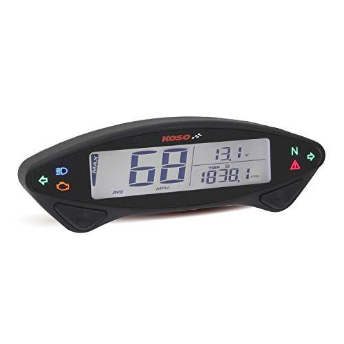 Digitaler Tachometer schwarz, DB EX-02, Geschw./Kilometerstand/Tageskilometerzähler/Betriebsstundenzähler.usw., mit Ba