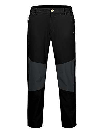 Little Donkey Andy Men's Quick Dry UPF 50 UV Protection Outdoor Pants for Hiking Climbing Black XXL