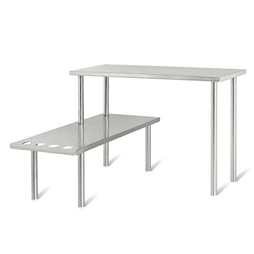 bremermann® estantería de cocina, estantería universal, estante para especias en esquina, acero...