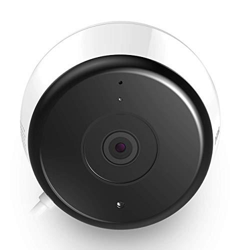 D-Link DCS-8600LH - Cámara WiFi Exterior Full HD 1080p, Visión 135, Micrófono y Altavoz Integrado, Detección Movimiento/Sonido, Alertas al Móvil, Graba en Nube/MicroSD, Compatible Alexa, Google Home