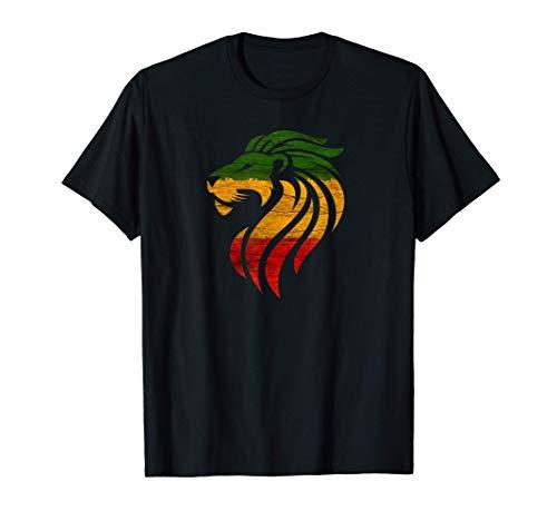 León rasta, orgullo jamaicano Camiseta