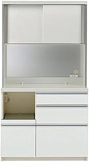 パモウナ 食器棚KL パールホワイト 幅100×高さ187×奥行45 日本製 KLL-S1000R