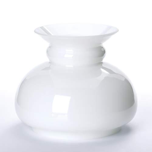 ORION LIGHTSTYLE Vesta Schirm Petroleumlampe in vielen Größen Petroschirm Glasschirm Öllampe weiß Opal Petroleum Glas (Durchmesser unten: 150mm)