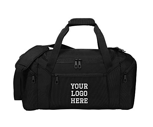 Custom Form Duffel Bag for Men Women - Add Your Logo - Personalized Weekender Bag for Gym, Overnight, Travel
