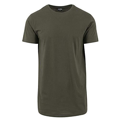 Urbandreamz Herren T-Shirt Shaped Long Tee R&hals Olive - L -