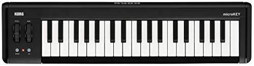 KORG microKEY2 37 Keyboard, 37 Tasten, schwarz, Controller, MIDI-Keyboard für Musik- und Studioproduktionen