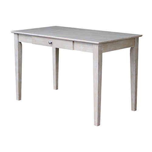 International Concepts Writing Desk With Drawer, Washed Gray Taupe