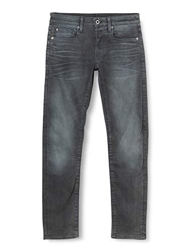G-STAR RAW Herren 3301 Slim Fit Jeans, Grey (dk aged cobler 7863-3143), 38W / 30L