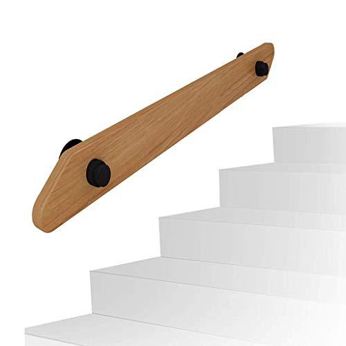 ARMREST Barandilla Antideslizante de 1ft-10ft con Soportes de tubería de Hierro - Kit Completo. para Interiores y Exteriores, escaleras de Madera, Escalera, pasamanos, barandilla, Soporte de riel