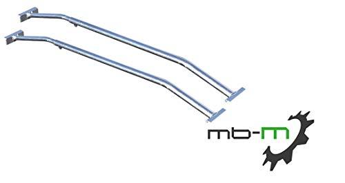 mb-m® 906360 2X Bügel für Anhänger Plane Flachplane Aluminium Verstellbar von 1000mm auf 1450mm