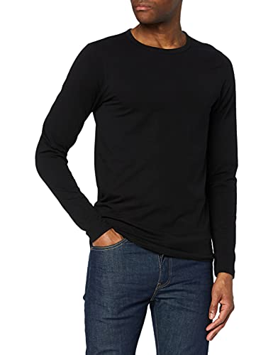 Jack & Jones - Maglietta Storm Sweat, Manica lunga, Uomo, Black, Large