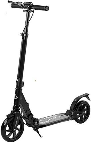 UYZ Scooters para Adultos - Kick Scooter con Rueda Grande, diseño Plegable, Sistema de Doble amortiguación, Frenos de Mano, Altura Ajustable, Soporte 220 Libras de Peso, Adecuado para Viajes urb
