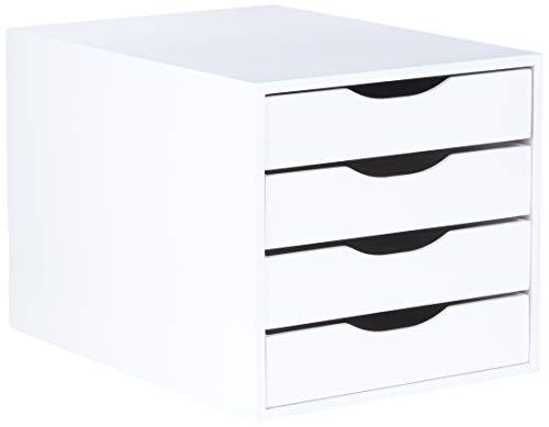 Módulo Easy Box 4 Gavetas, Mdf Branco - Souza & Cia (Ref: 3336)