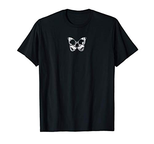 Skull Butterfly Aesthetic Goth Gothic Soft Grunge Clothing T-Shirt