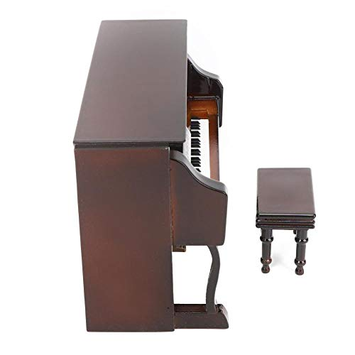 Bicaquu Piano Music Box Black Color Musical Model Upright Piano for Home Office(Brown)