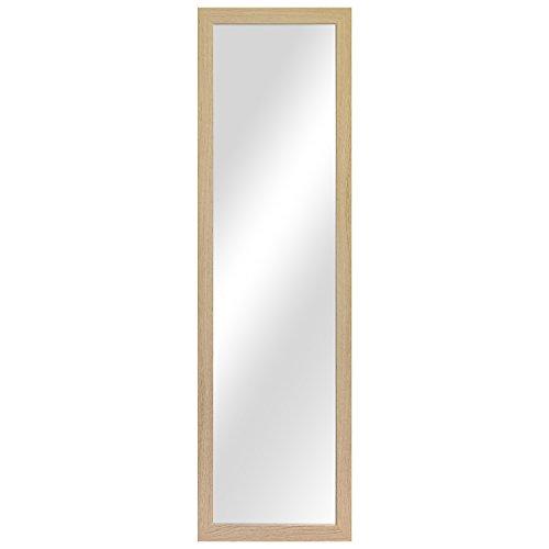 Wohaga Garderobenspiegel \'Dakar\' Wandspiegel Frisierspiegel Flurspiegel Barspiegel 36,5x126,5cm - Natur
