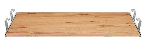 FIX&EASY Guide scorrevoli con ripiano 600X400mm texture dekoro legno faggio selvatico per porta-tastiera cassetto, staffa per binario scorrevole zincato 400mm, estraibili per tastiera mouse e laptop