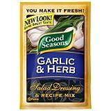 Good Seasons Salad Dressing & Recipe Mix .6-.75oz Packets (Pack of 12) (Garlic & Herb .75o...