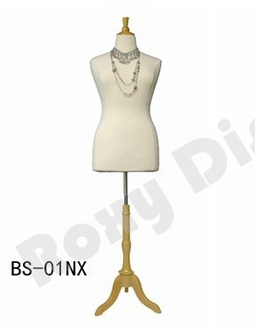 (JF-F14/16W+BS-01NX) Size 14-16 White Female Dress Form Mannequin Plus Size 42