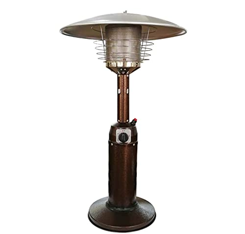 Dbtxwd Tabletop Gas Patio Heater, Portable Outdoor Stainless Steel Home Burner, Propane Or Butane Gas Bottle Low Energy, for Gazebo Garden Camping
