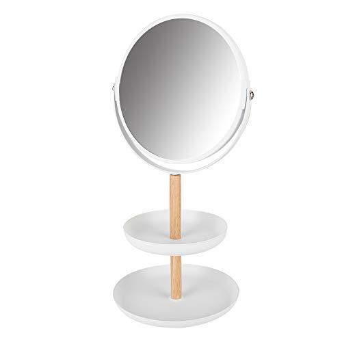 Makeup Organizer - Desktop DIY Makeup Organizer Schmuckschatulle mit Spiegel Schreibtisch Aufbewahrungsregal Rack Schmuckablage