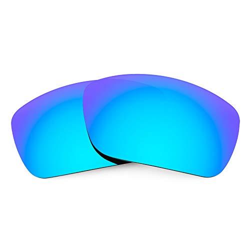 Revant Verres de Rechange Compatibles avec Maui Jim Canoes MJ208, Polarisés, Bleu Glacier MirrorShield